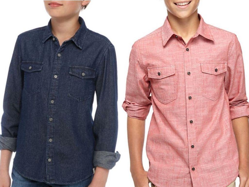 true craft boys chambray shirts
