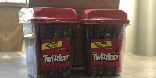 GIANT Twizzlers Twists Licorice Tub Only $5 + Free Staples Curbside Pickup