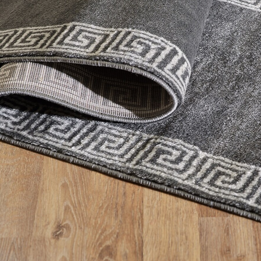 VCNY Geometric Rug shown folded