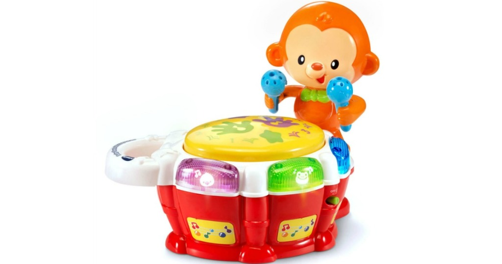 toy drum with a monkey on it