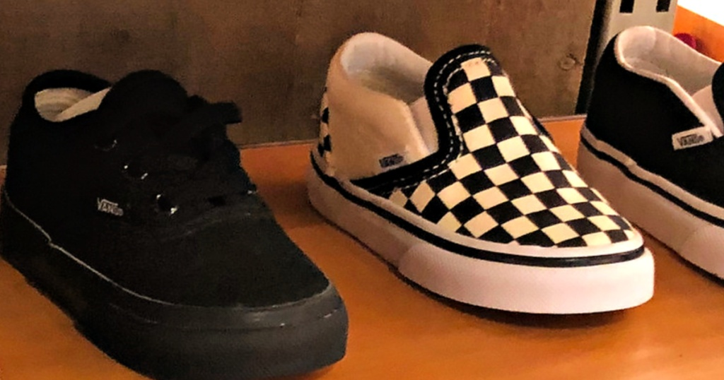 Vans Shoes Slip-On Checkered Sneakers on shelf