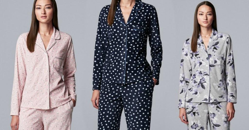 women wearing pajamas