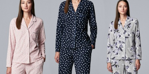 Simply Vera Vera Wang Women's Pajama Set Only $10.50 Shipped for Kohl's Cardholders (Regularly $50)
