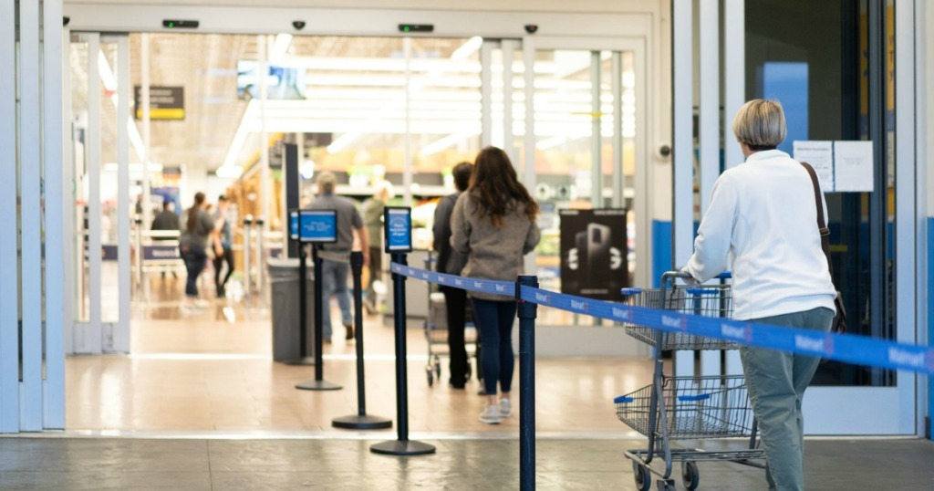 Walmart Shopping Process to Encourage Social Distancing