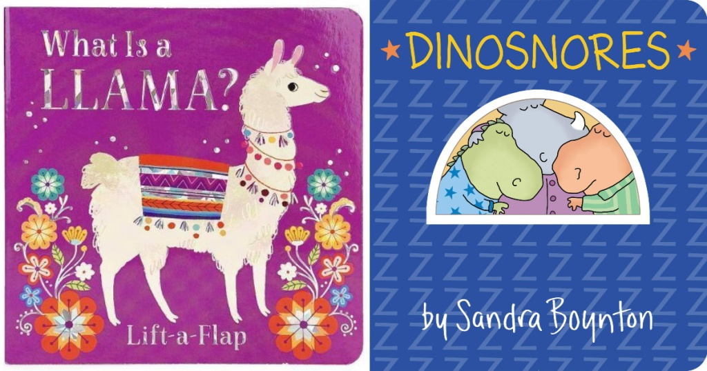 book cover of What is a llama book and dinosnores book