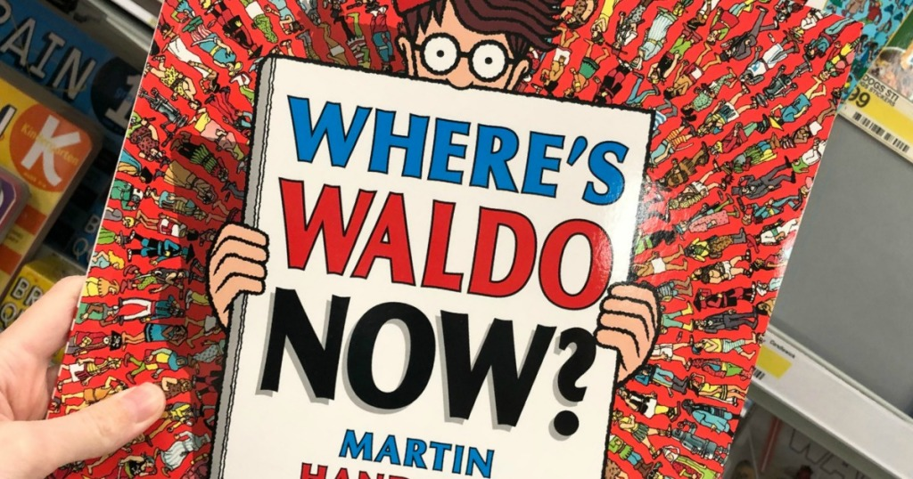 Holding the Where's WALDO Now? book