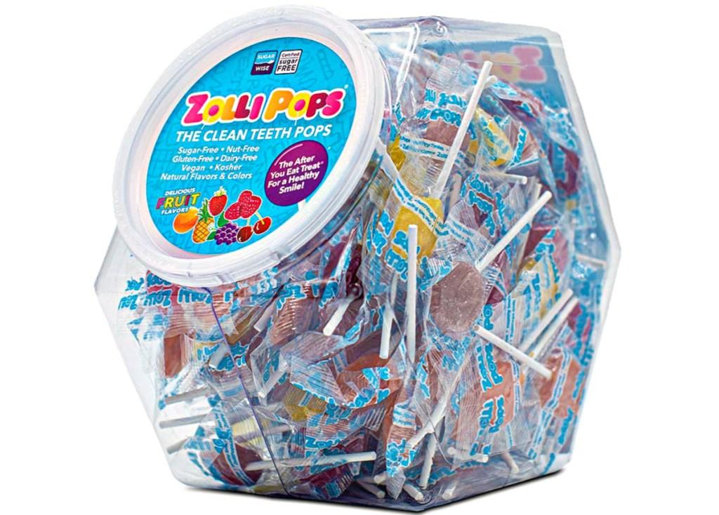 Zollipops 150-Count Clean Teeth Lollipops in tub
