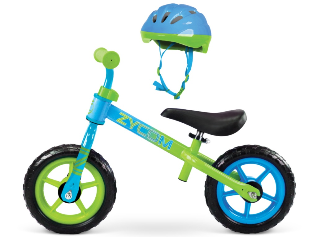 blue and green boys bike
