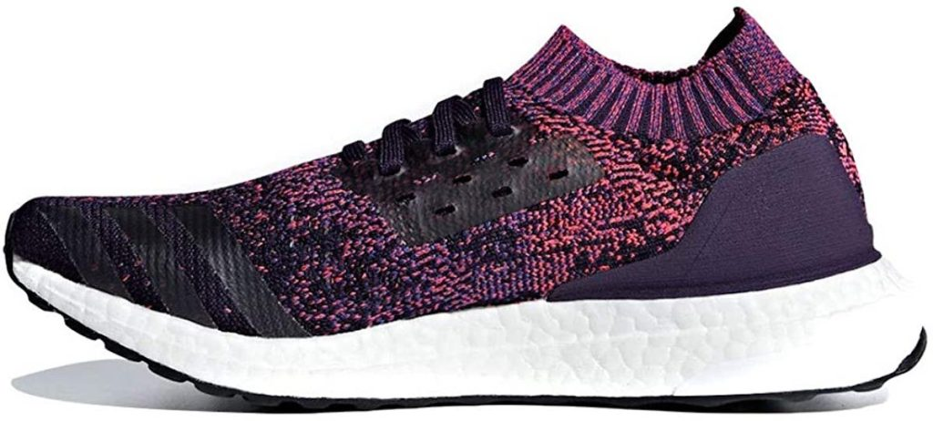 stock image of adidas Ultraboost Uncaged Shoes in legendary purple with white background