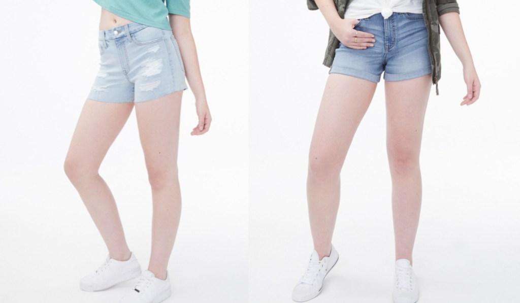 aeropostale girls shorts on two female models