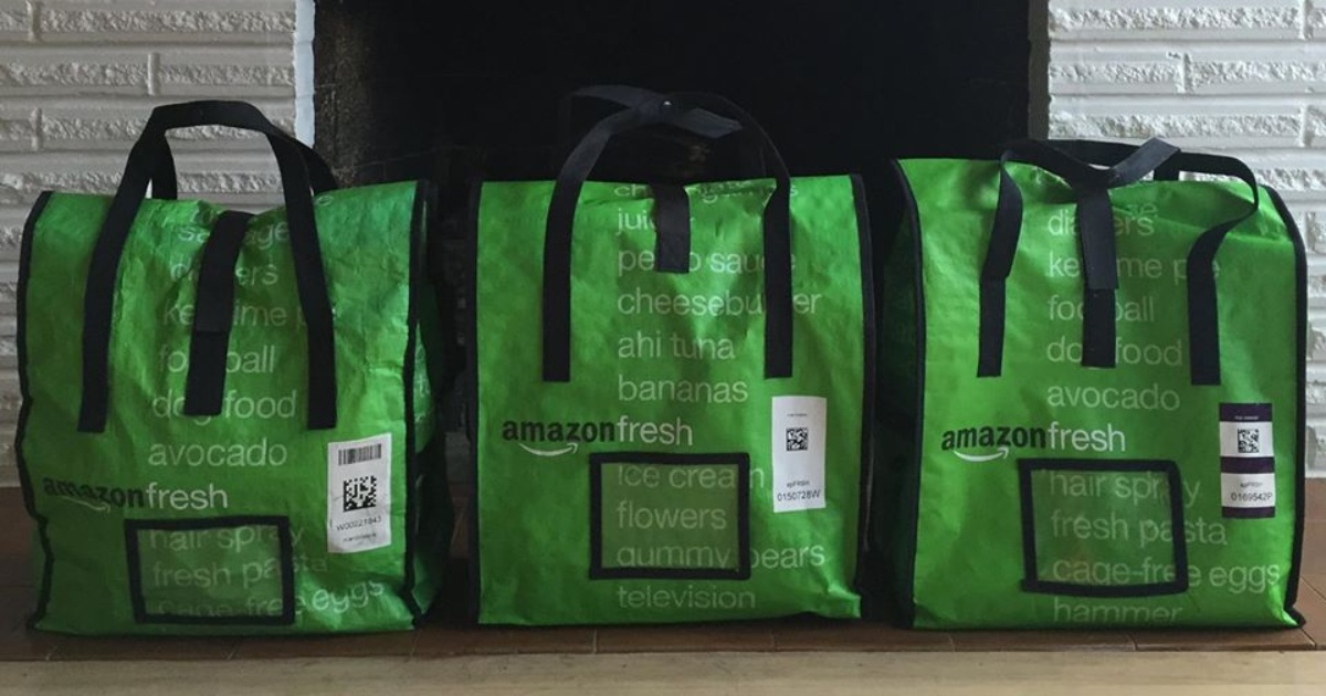 grocery bags from Amazon Fresh