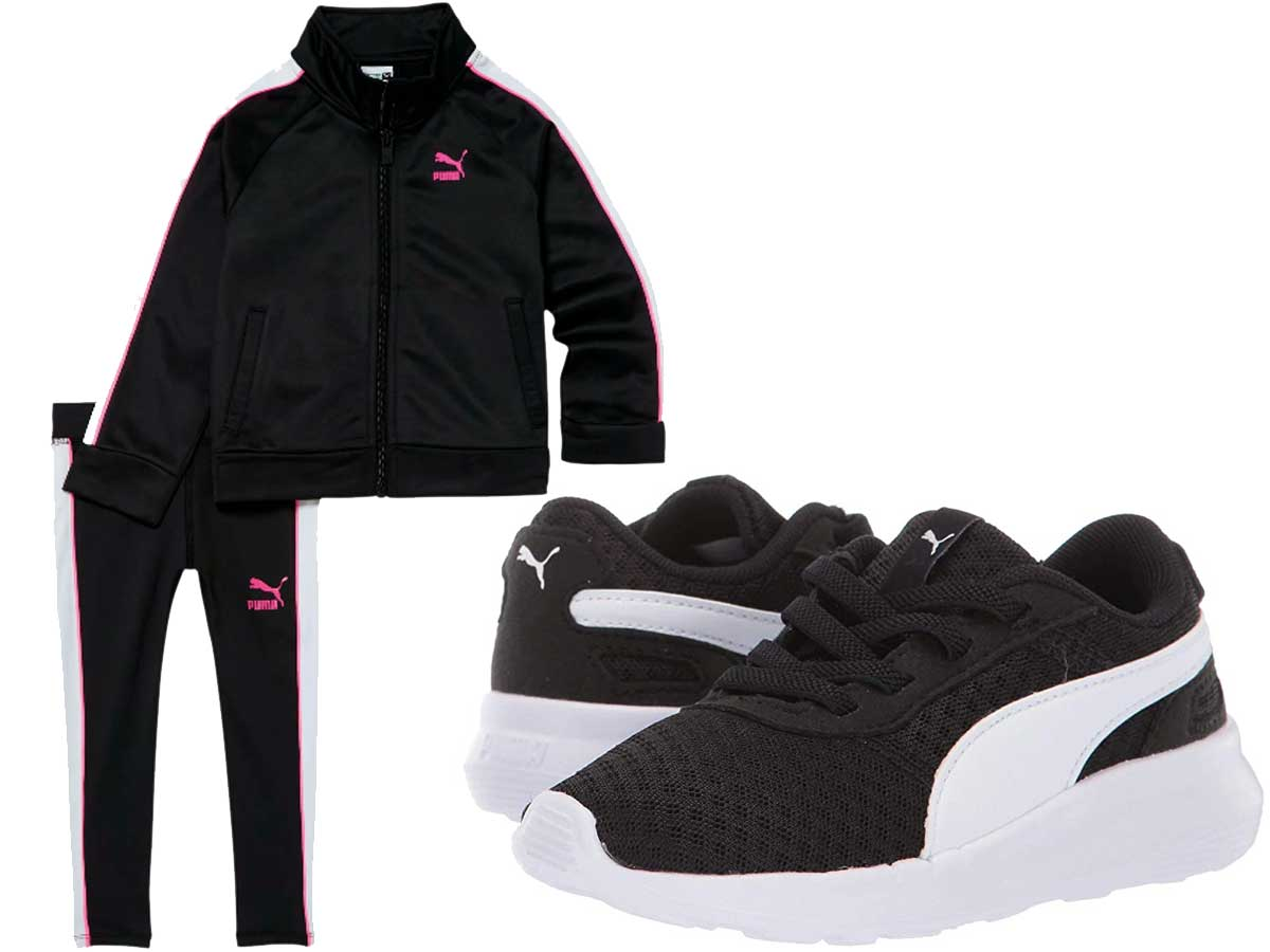 puma toddler track suit and shoes