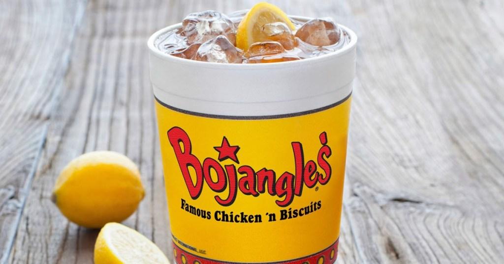 Bojangles iced tea with lemon