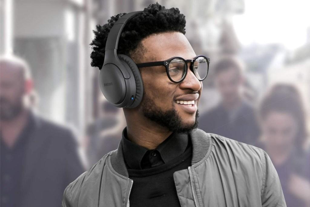boltune headphones on man in city