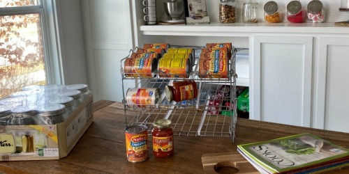 This Stackable Can Rack Organizer From Amazon is a Pantry Must-Have!