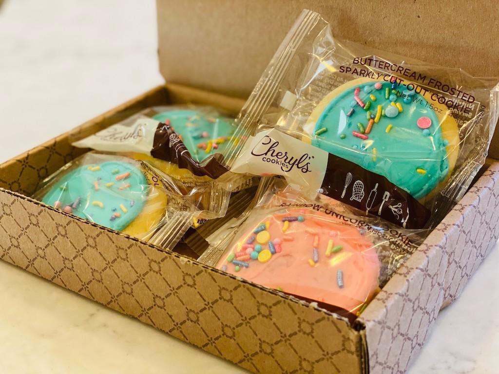 Cheryl's birthday cookies in a box
