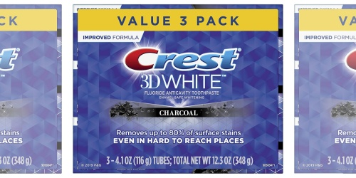 Crest 3D White Charcoal Whitening Toothpaste 3-Count Only $9.97 Shipped on Amazon