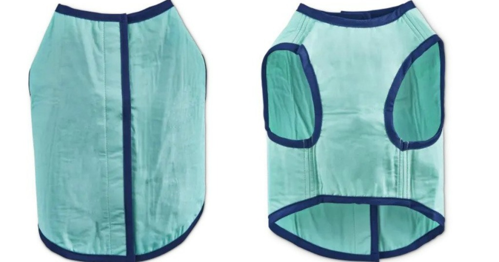 front and back views of dog vest