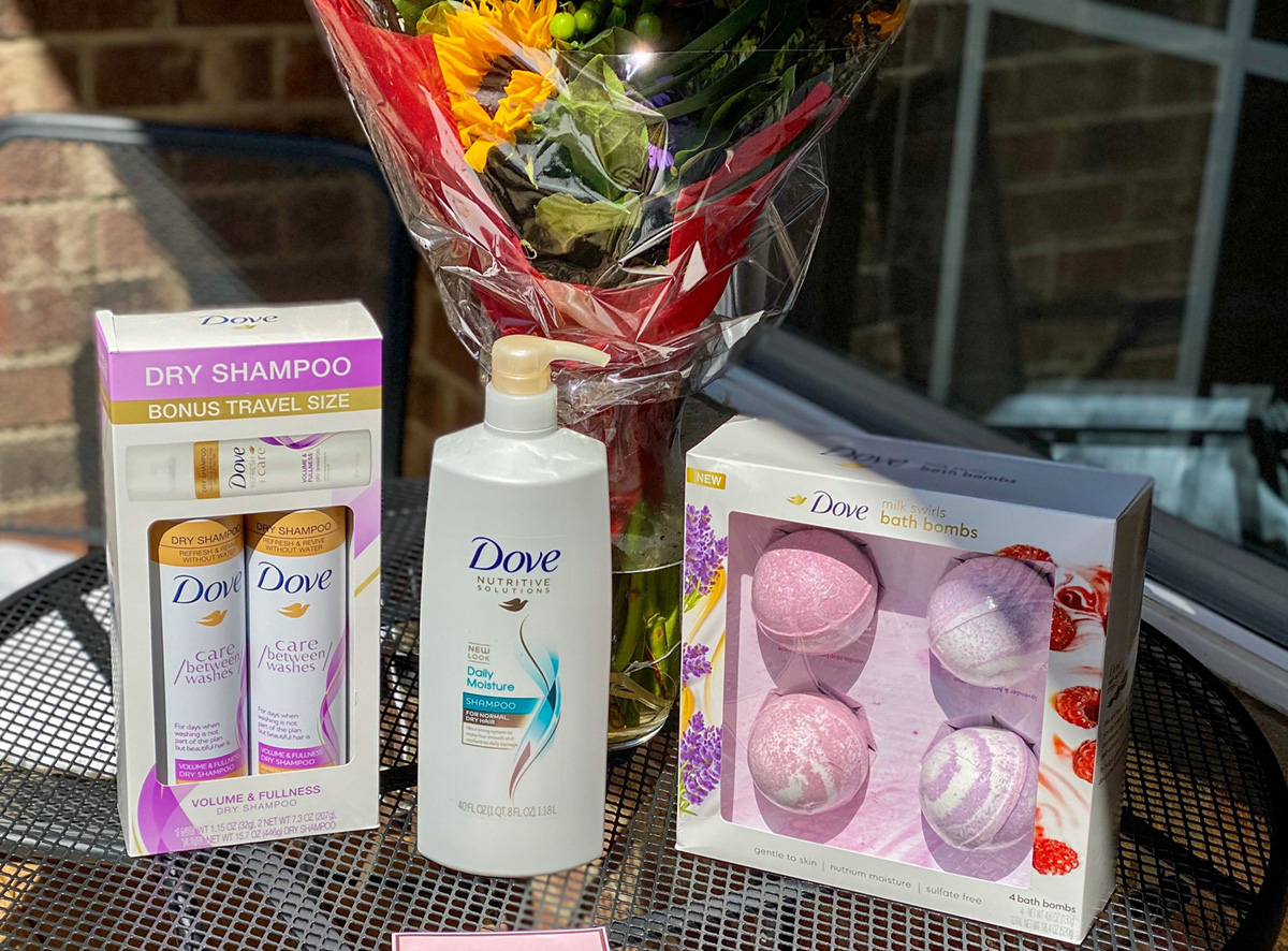 dove products on table