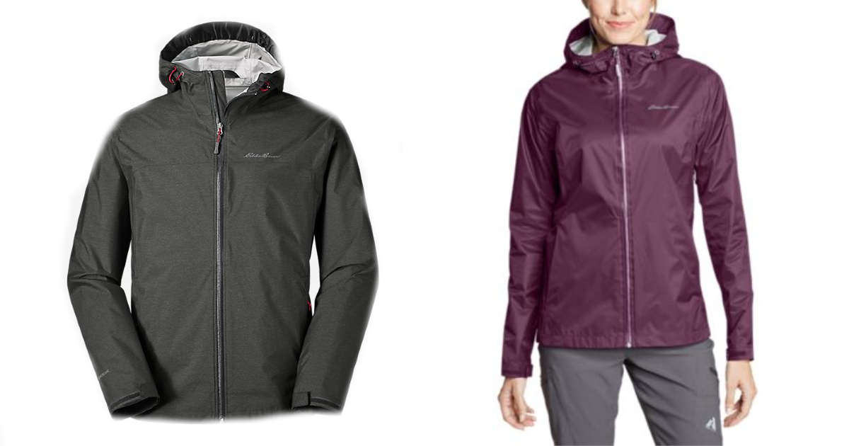 stock images of eddie bauer rain jackets men and women