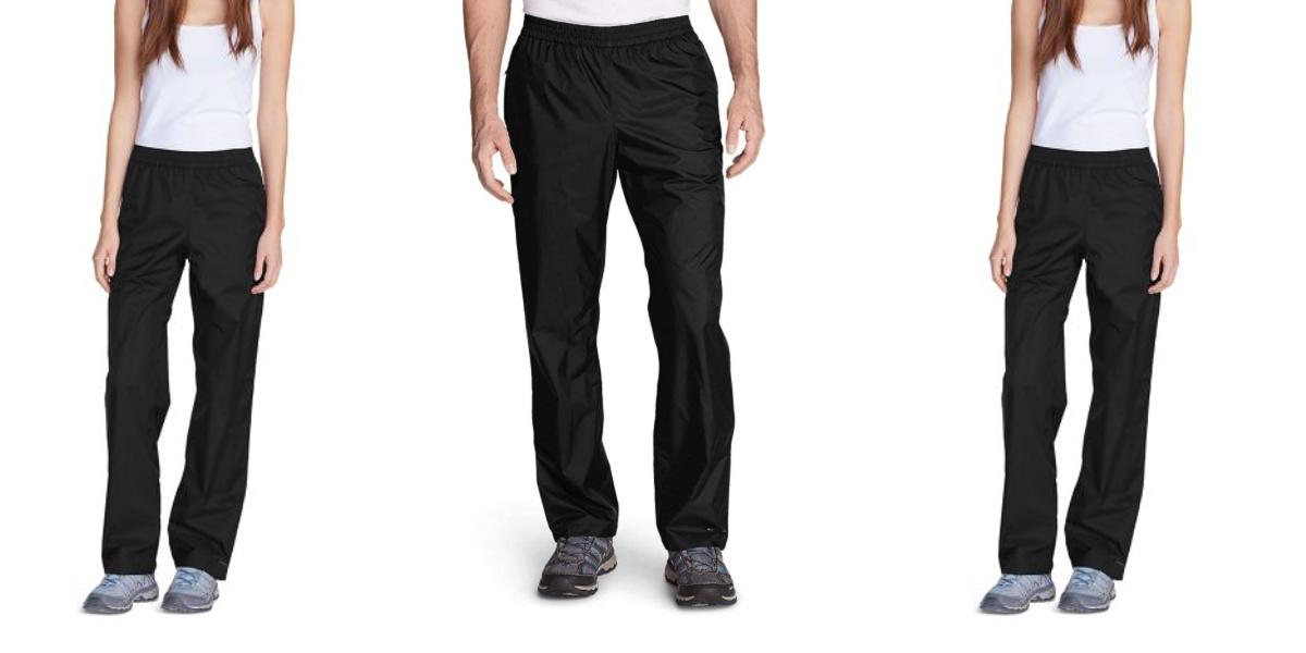 stock images of eddie bauer rain pants