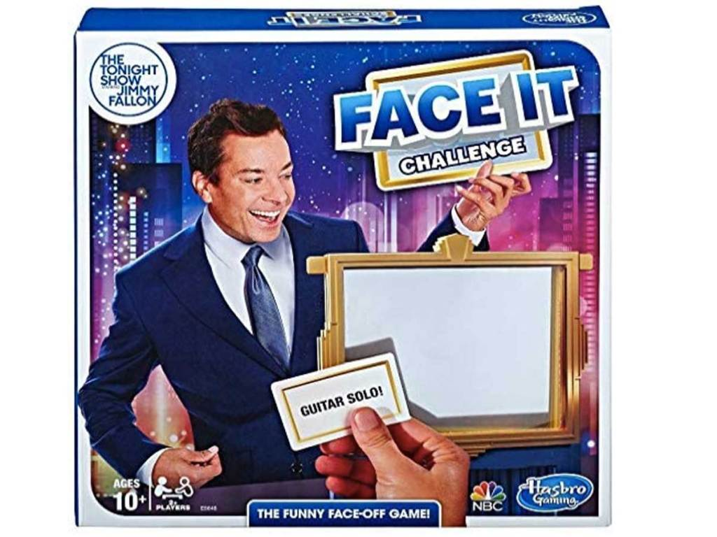 The Tonight Show Starring Jimmy Fallon Face It Challenge Party Game stock image