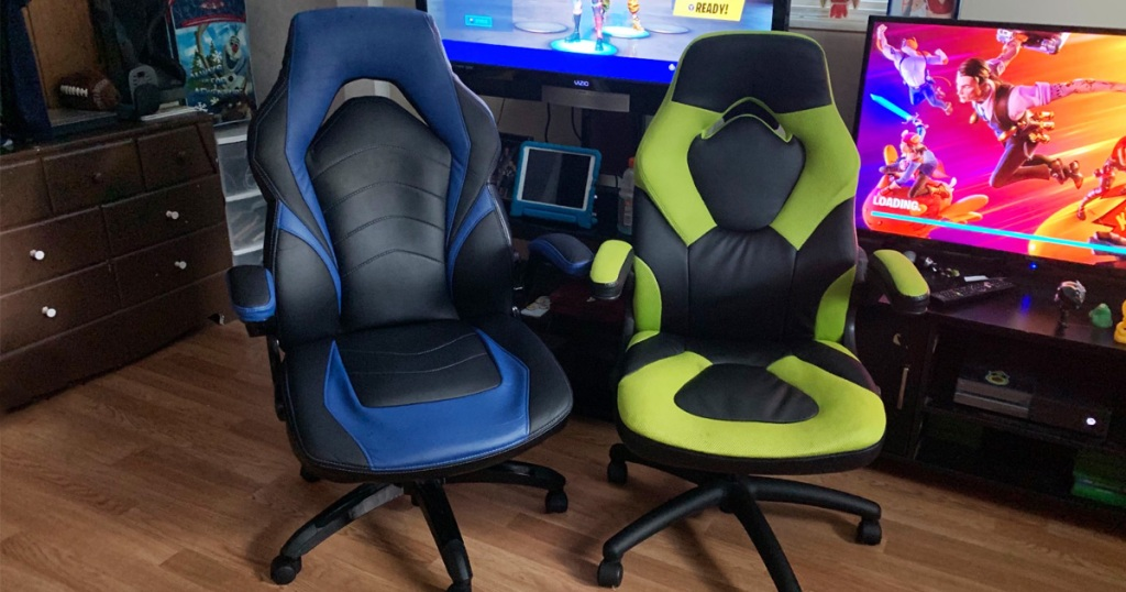 gaming chairs in front of tv