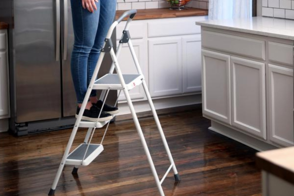 gorilla step stool in kitchen