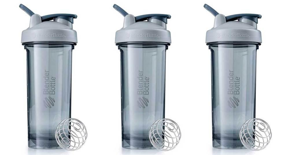 blender bottles in pebble gray 28 oz stock images