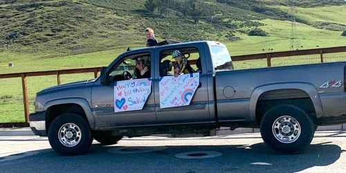 This Reader Celebrates Daughter's Birthday By Hosting Drive-By Parade While Social Distancing
