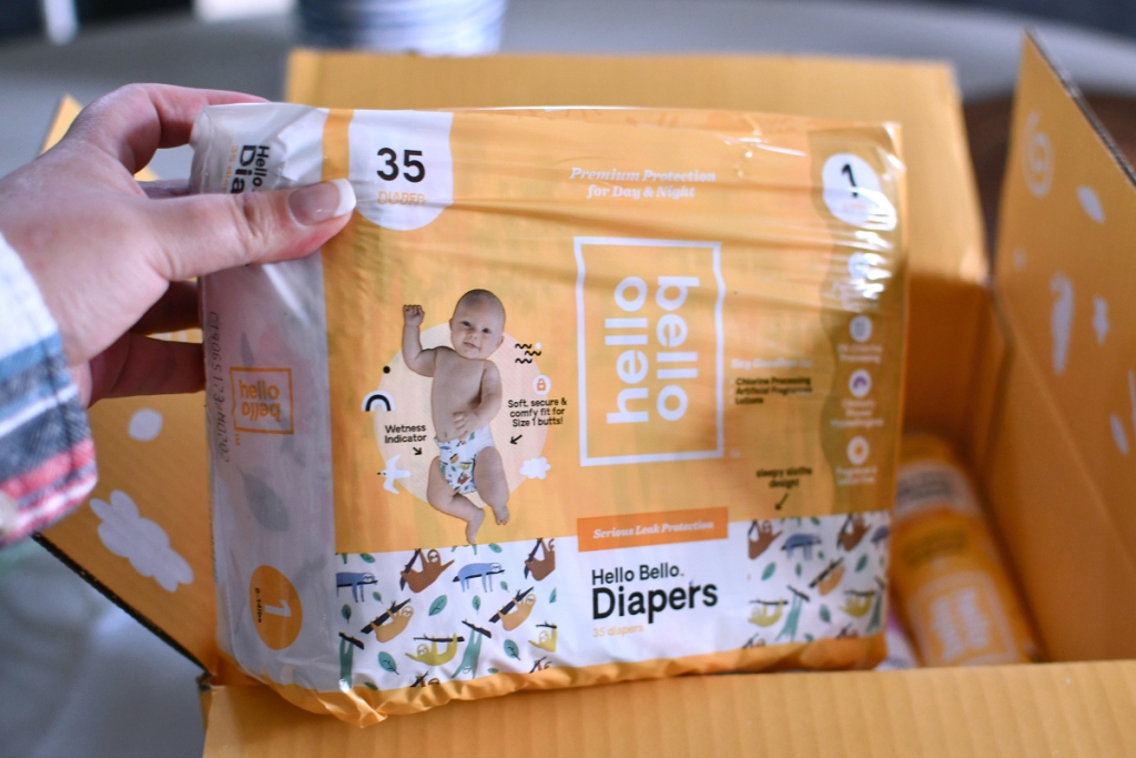 baby diapers in box