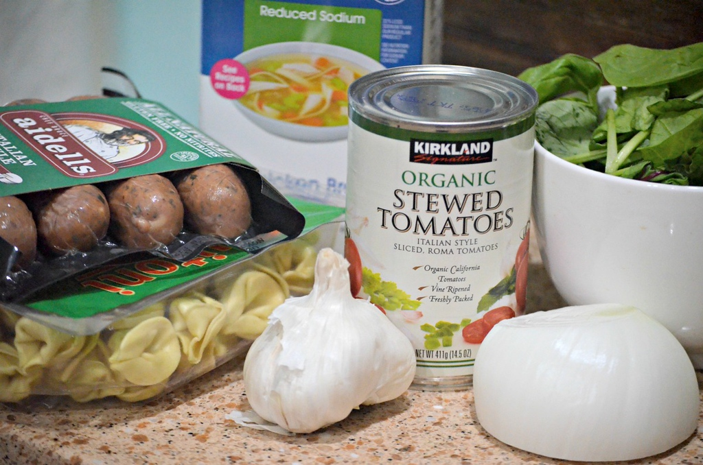 ingredients for tortollini soup