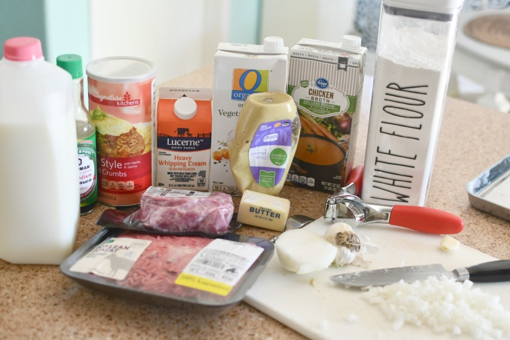 ingredients to make ikea meatballs