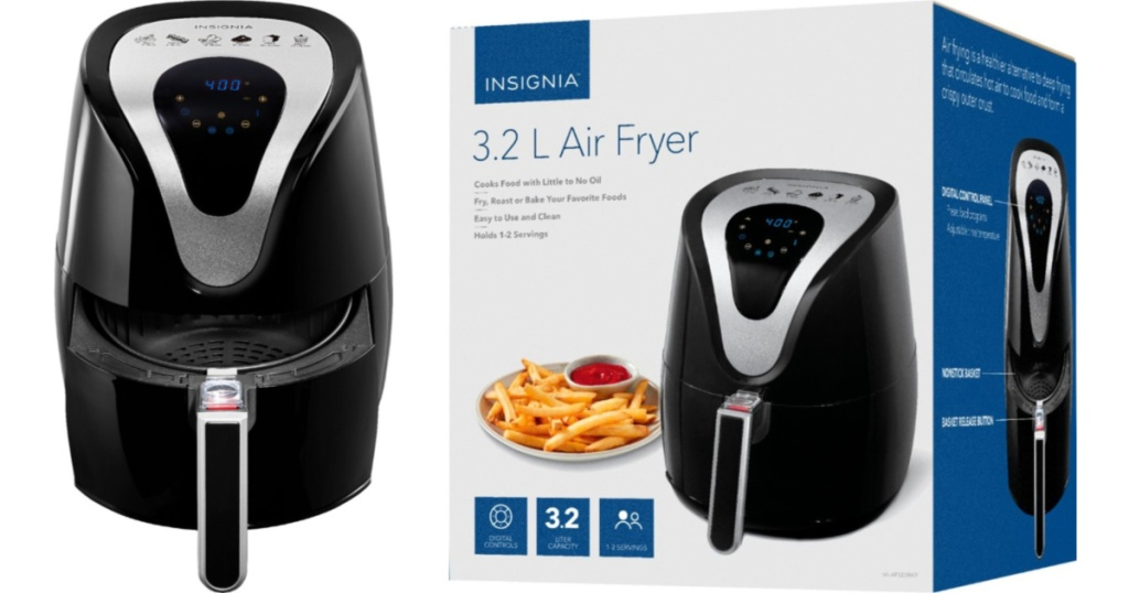 Best Air Fryer - insignia air fryer and air fryer box