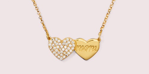 Kate Spade Pavé Heart Mom Pendant Just $34 Shipped (Regularly $68)