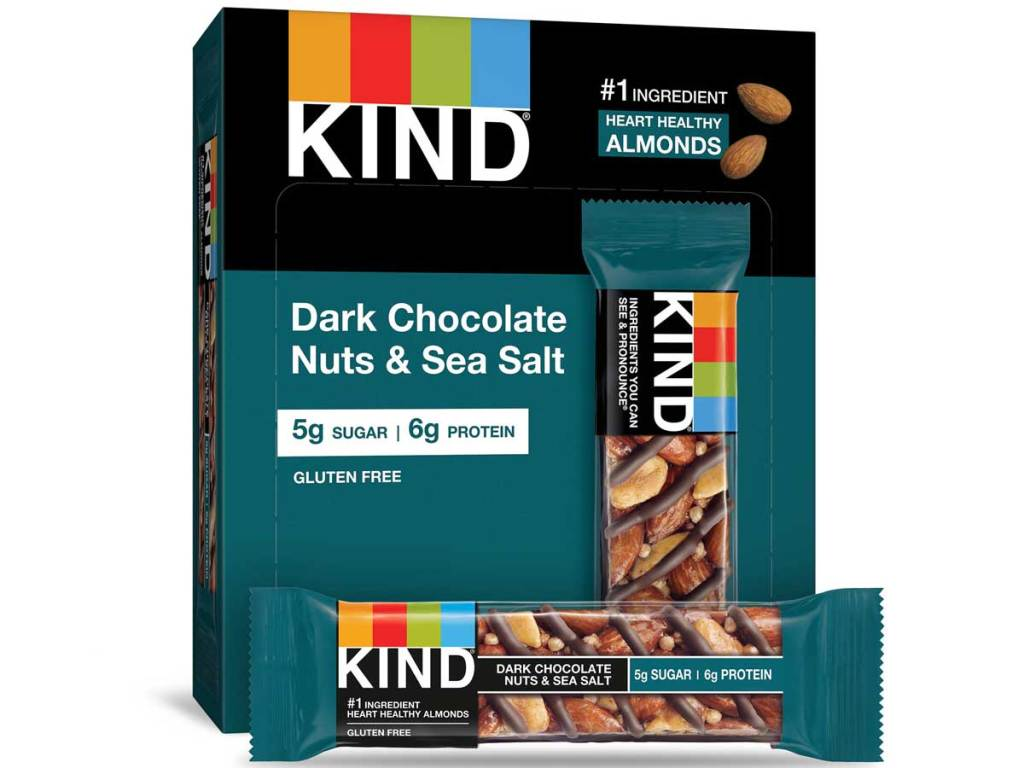 kind bars dark chocolate and sea salt stock image