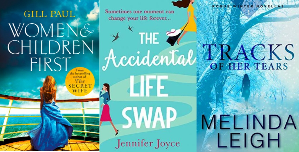 women and children first, the accidental life swap, tracks of her tears book covers