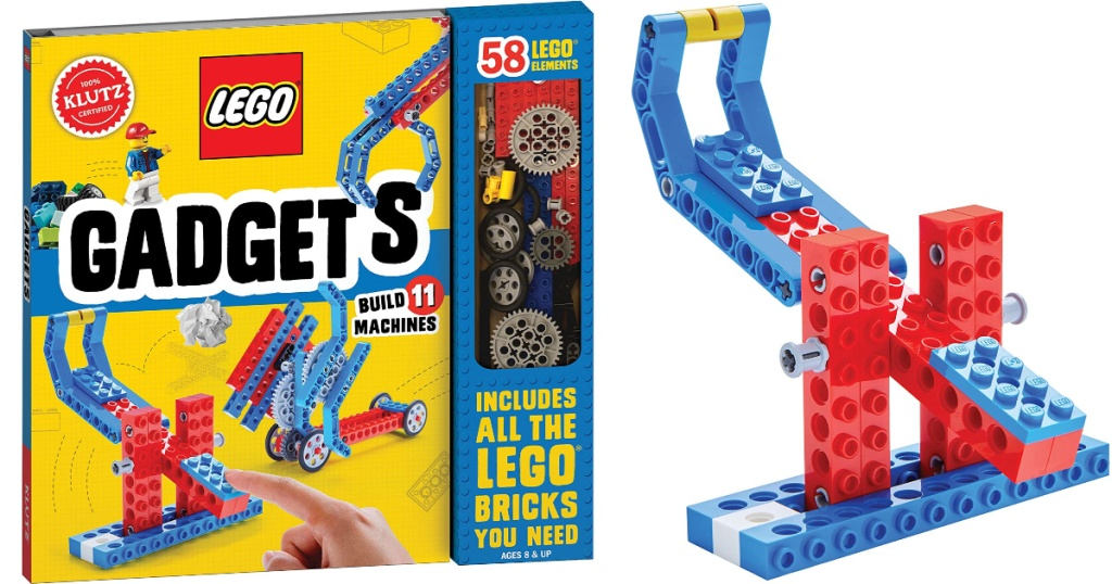 klutz lego gadgets book with lego gadget beside it