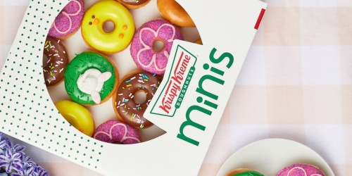 Krispy Kreme Doughnuts Spring Minis Available Now for Pick-up or Delivery