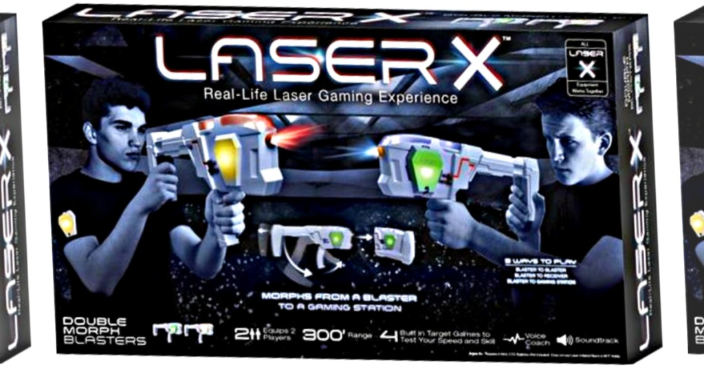 laser X morph blasters box