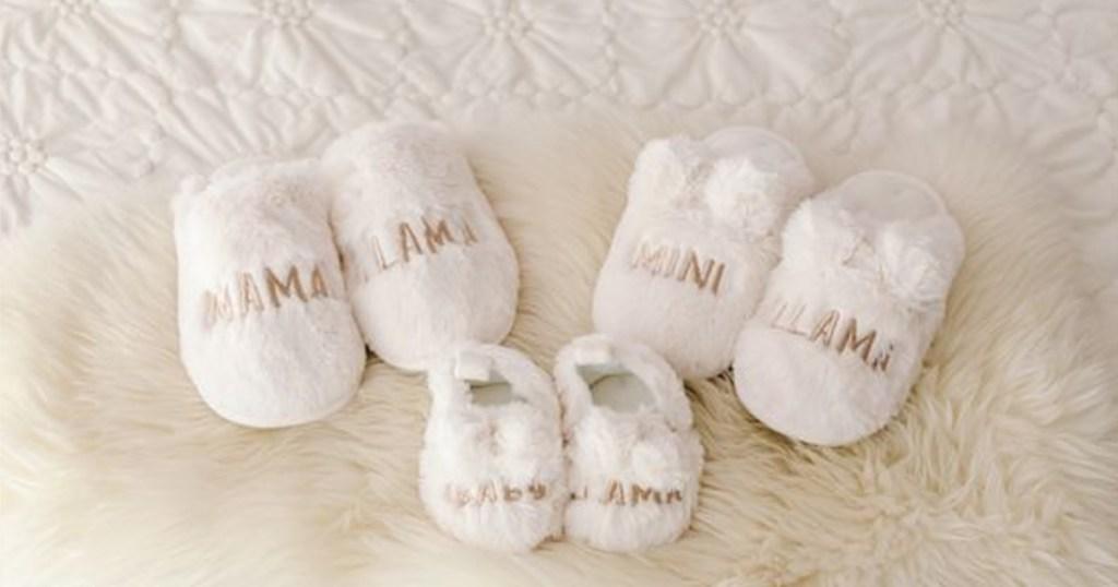 lauren conrad llama matching slippers