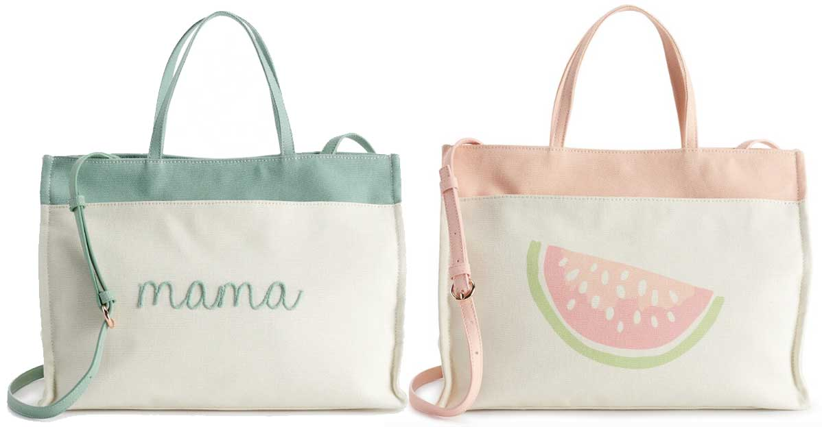 lauren tote bags stock images mama and watermelon prints