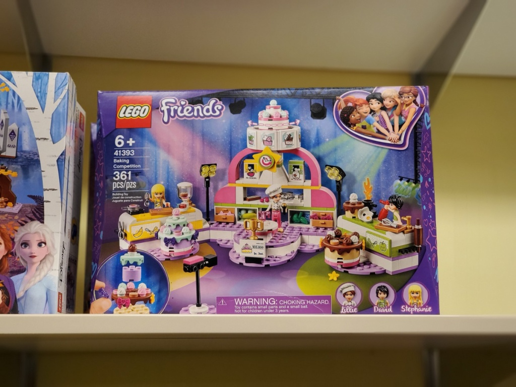 lego friends baking competition set on store shelf