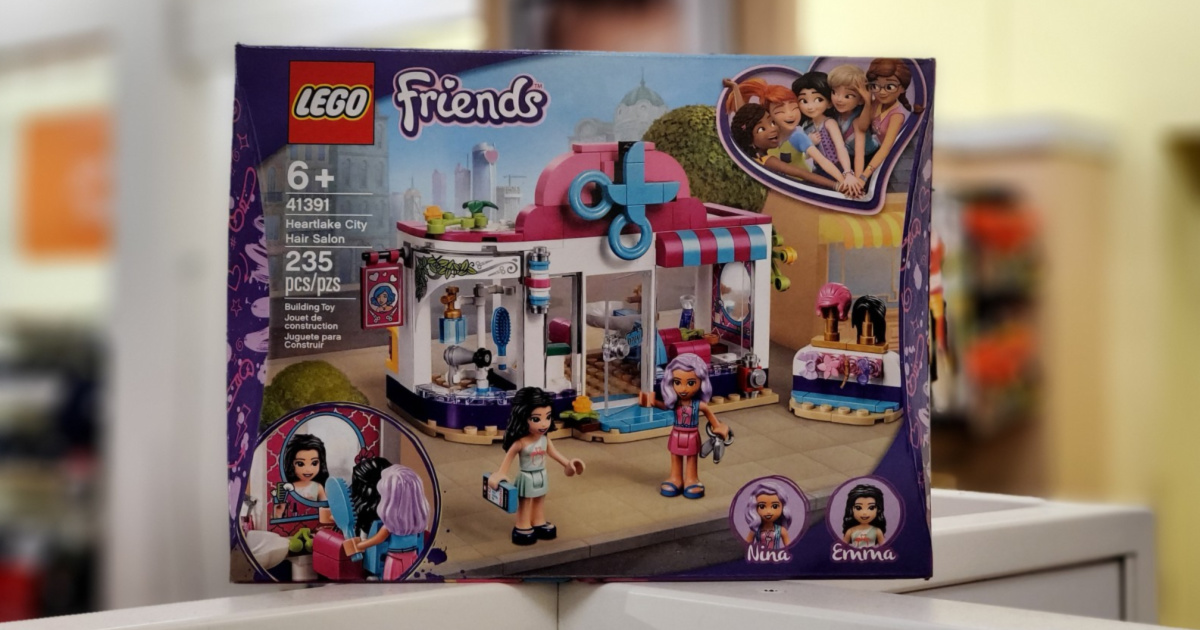 LEGO Friends Hair Salon set with blurred background