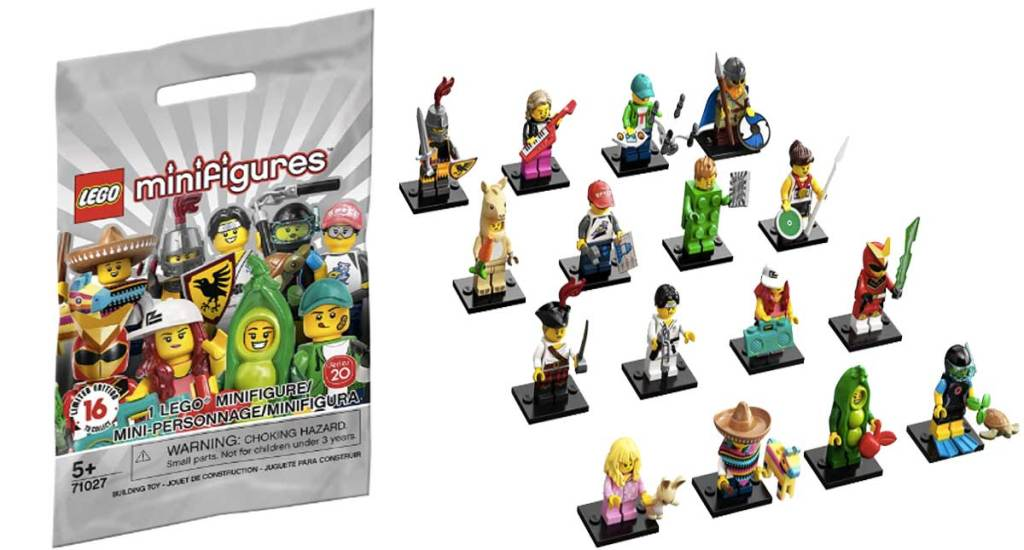 lego minifigures building set 20 stock image