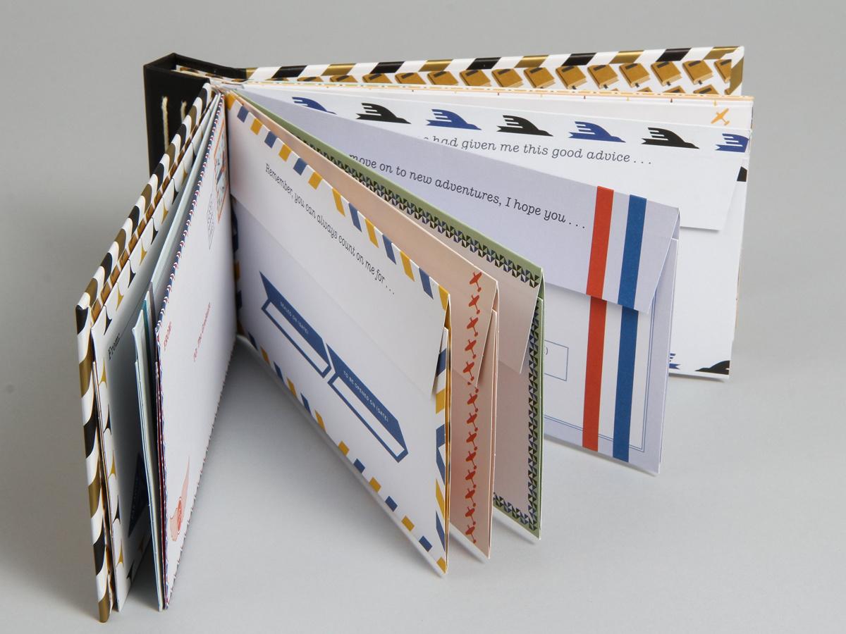 envelope booklet opened
