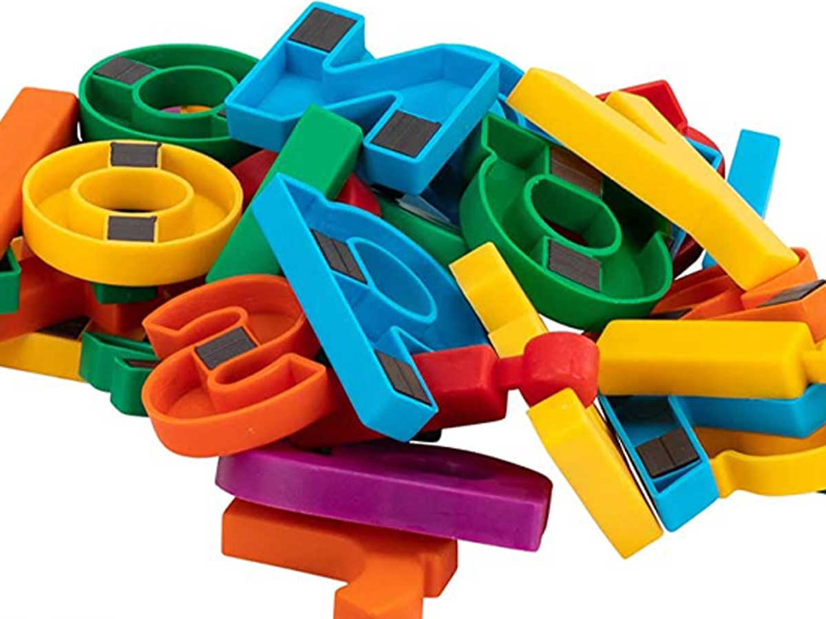 pile of magnetic letters