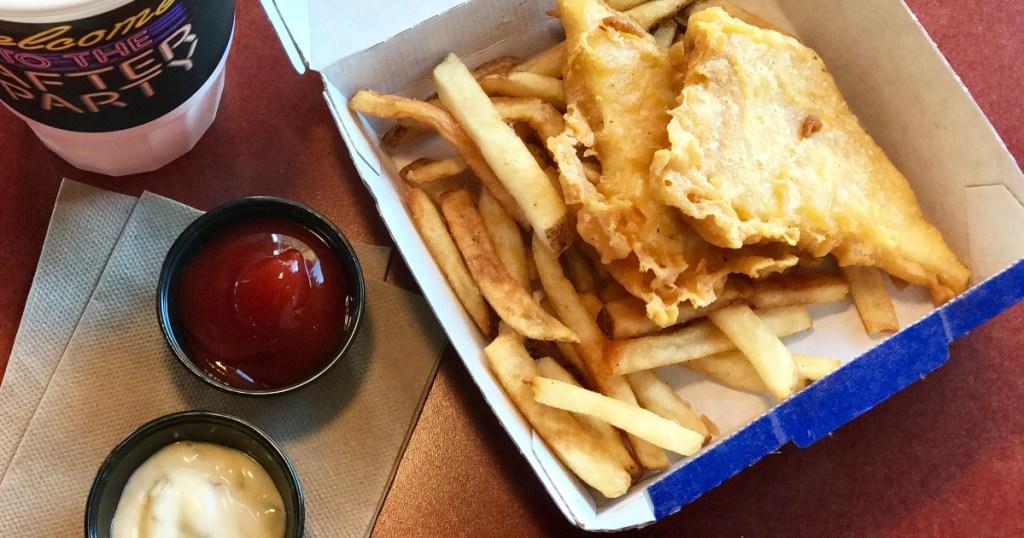 Long John Silver's fish meal