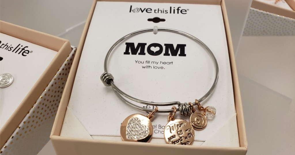 love this life mom bangle charm in box in store
