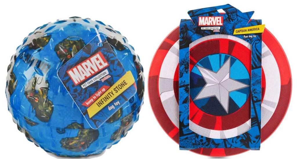 marvel avengers dog flyer and ball